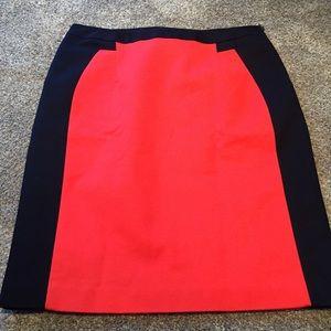 EUC skirt orange and navy